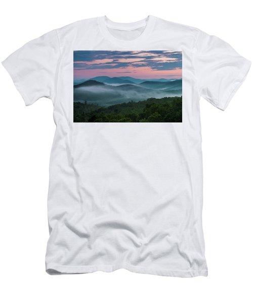 Men's T-Shirt (Athletic Fit) featuring the photograph Shenandoah Sunrise by Kevin Blackburn