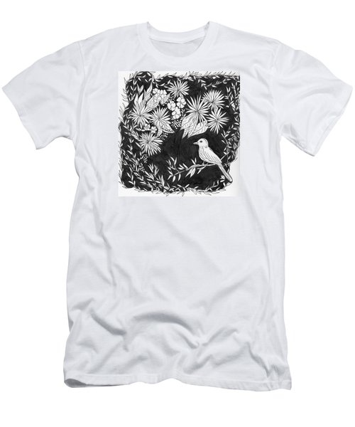 Men's T-Shirt (Slim Fit) featuring the painting Sitting Pretty by Lou Belcher