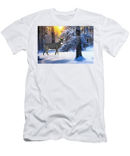 Snow Deer Men's T-Shirt (Athletic Fit)