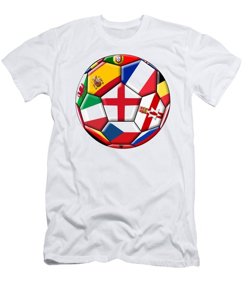 Soccer Ball With Flag Of England In The Center Men's T-Shirt (Athletic Fit)