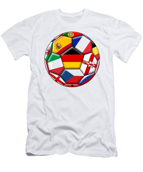 Soccer Ball With Flag Of German In The Center Men's T-Shirt (Athletic Fit)