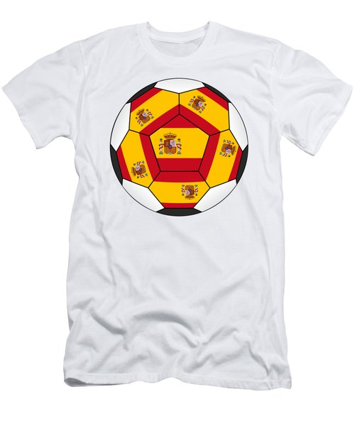 Soccer Ball With Spanish Flag Men's T-Shirt (Athletic Fit)