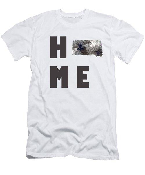 Men's T-Shirt (Slim Fit) featuring the digital art South Dakota State Map by Marlene Watson