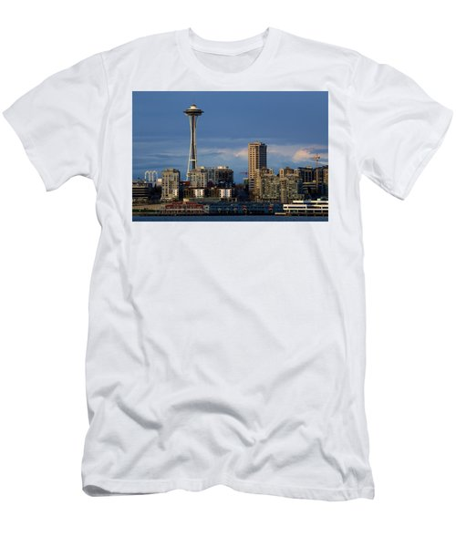 Men's T-Shirt (Slim Fit) featuring the photograph Space Needle by Evgeny Vasenev