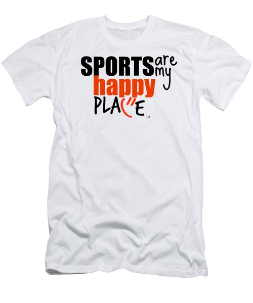 Sports Are My Happy Place Men's T-Shirt (Athletic Fit)