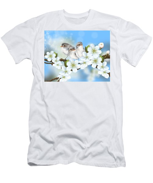 Men's T-Shirt (Slim Fit) featuring the painting Spring Fever by Veronica Minozzi