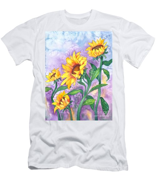 Sunny Sunflowers Men's T-Shirt (Athletic Fit)