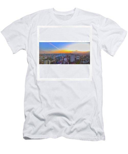 #sunset #skyscraper #38 #38thfloor Men's T-Shirt (Athletic Fit)