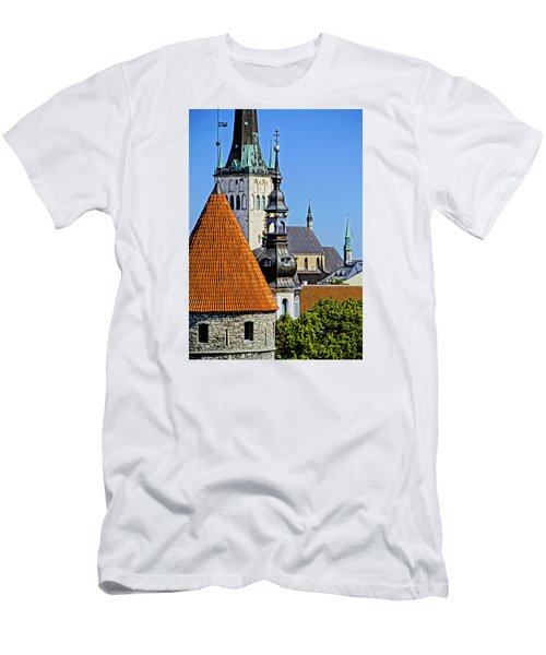 Tallinn Steeples Men's T-Shirt (Athletic Fit)