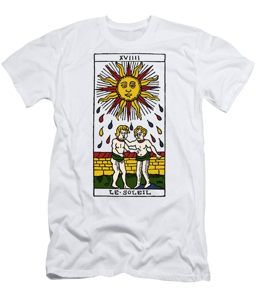 Tarot Card The Sun Men's T-Shirt (Athletic Fit)