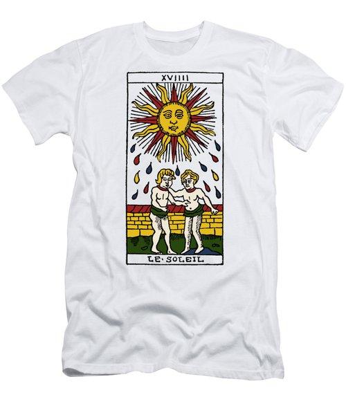 Tarot Card The Sun Men's T-Shirt (Athletic Fit)