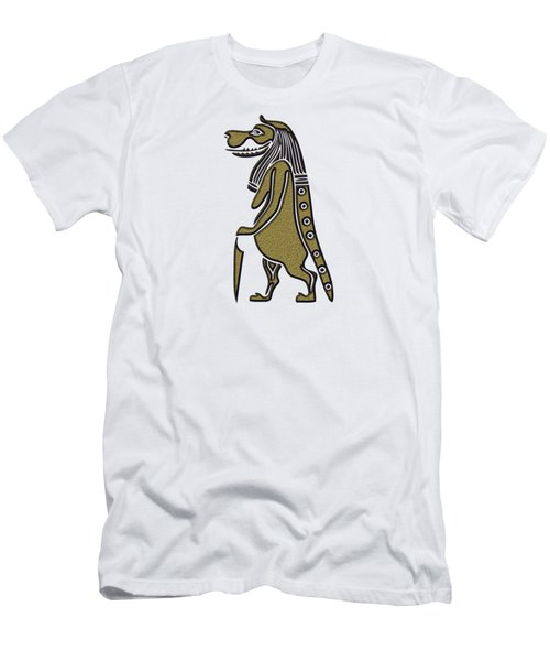 Men's T-Shirt (Slim Fit) featuring the mixed media Taweret - Mythical Creature Of Ancient Egypt by Michal Boubin