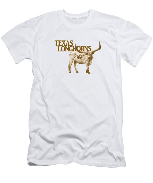 Texas Longhorns Men's T-Shirt (Slim Fit) by Priscilla Burgers