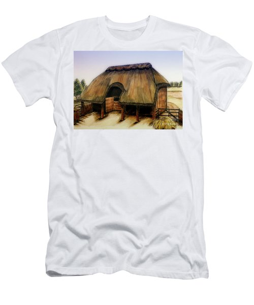 Thatched Barn Of Old Men's T-Shirt (Athletic Fit)