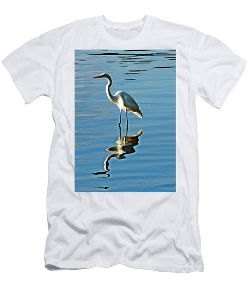 The Egret Men's T-Shirt (Athletic Fit)