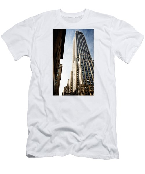 The Empire State Building Men's T-Shirt (Slim Fit) by Sabine Edrissi
