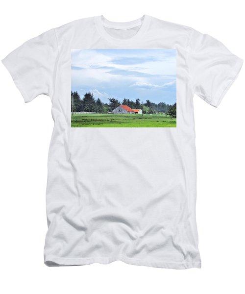The Farm Men's T-Shirt (Slim Fit) by Marilyn Diaz
