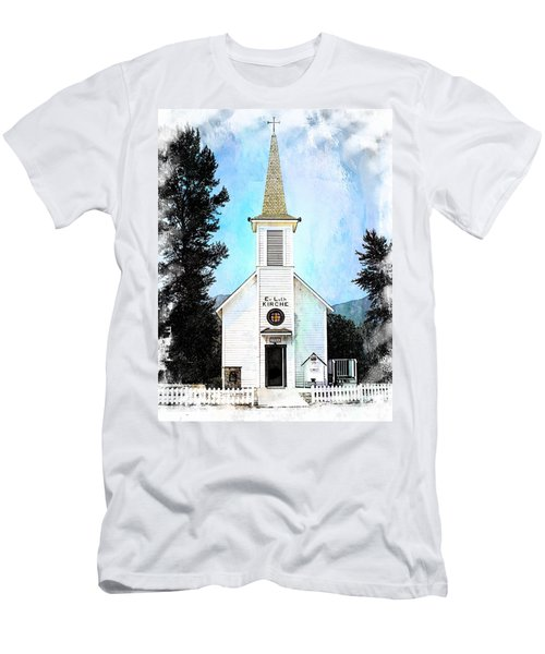The Little White Church In Elbe Men's T-Shirt (Slim Fit) by Joseph Hendrix