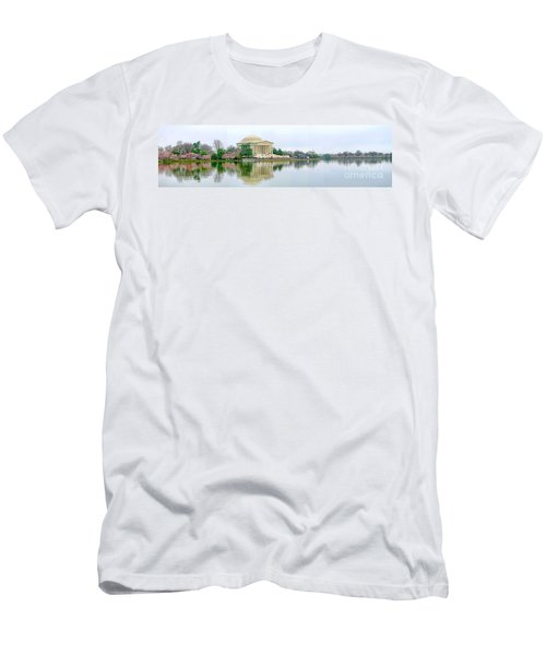 Tidal Basin With Cherry Blossoms Men's T-Shirt (Athletic Fit)