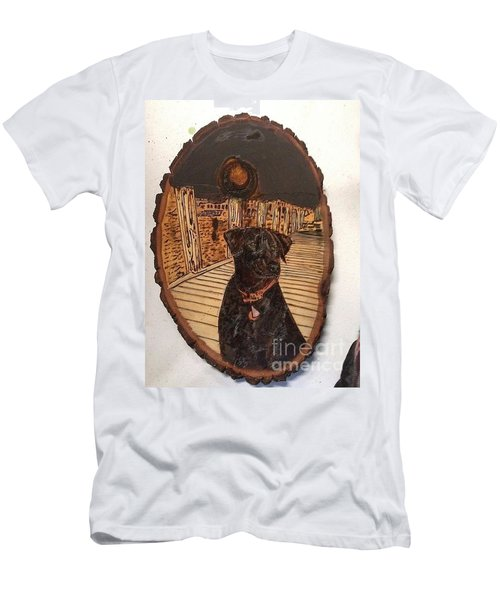 Men's T-Shirt (Athletic Fit) featuring the pyrography Timber by Denise Tomasura