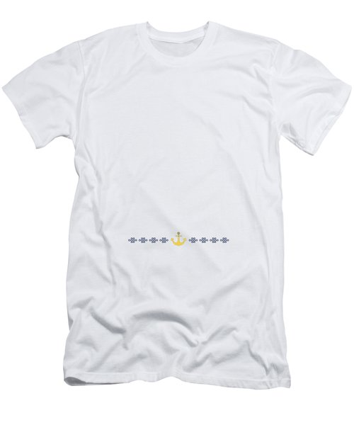 Treasure Knot With Yellow Anchor 2 Men's T-Shirt (Athletic Fit)