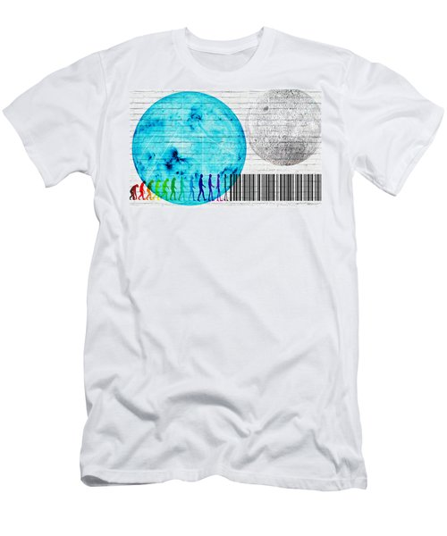 Urban Graffiti - Binary Evolution Men's T-Shirt (Athletic Fit)