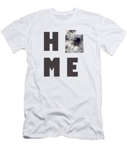 Men's T-Shirt (Slim Fit) featuring the digital art Utah State Map by Marlene Watson
