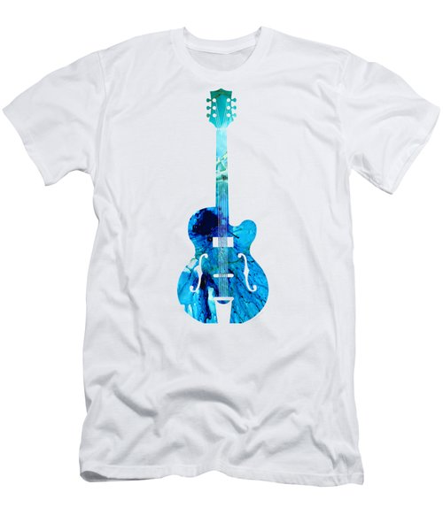 Vintage Guitar 2 - Colorful Abstract Musical Instrument Men's T-Shirt (Athletic Fit)