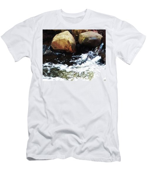 Waterfall Abstract Men's T-Shirt (Athletic Fit)