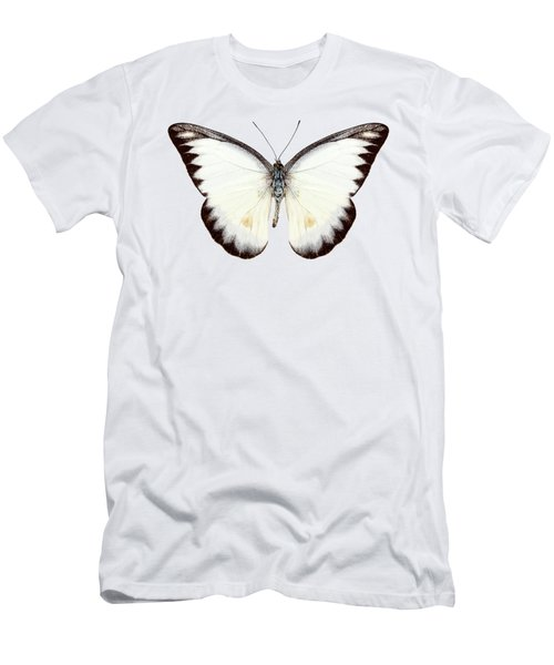 White Butterfly Species Appias Lyncida Men's T-Shirt (Athletic Fit)