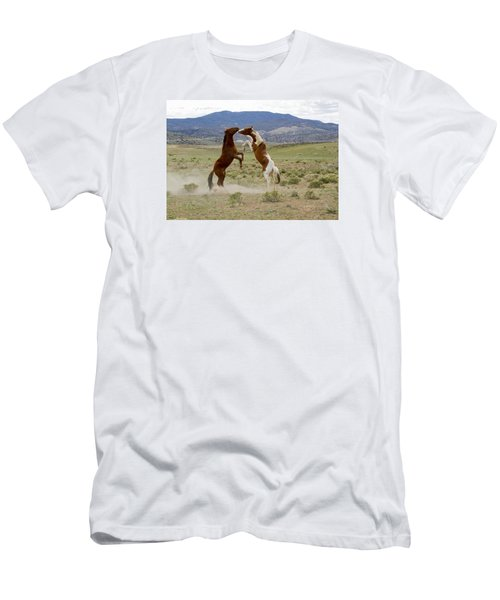 Wild Mustang Stallions Sparring Men's T-Shirt (Athletic Fit)