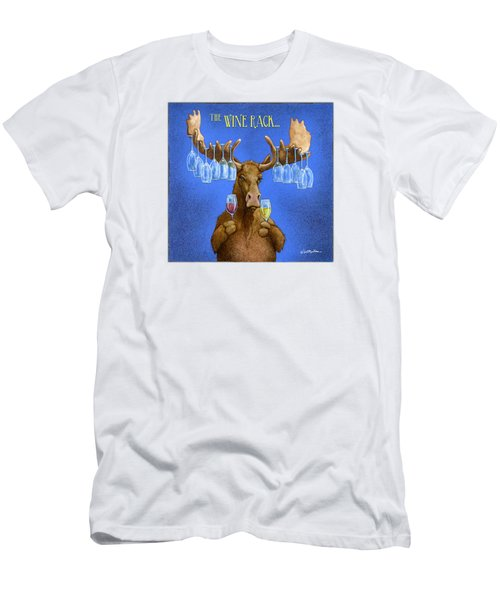 Wine Rack... Men's T-Shirt (Slim Fit) by Will Bullas