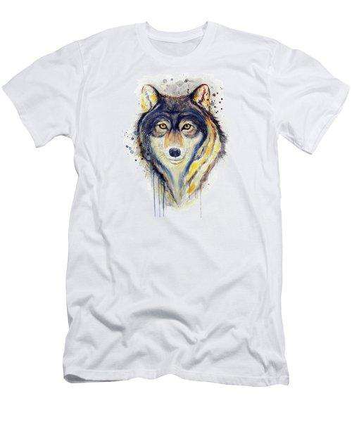 Wolf Head Men's T-Shirt (Athletic Fit)