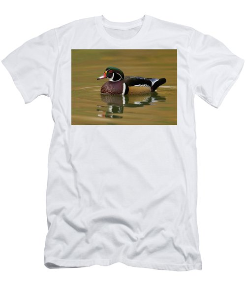 Men's T-Shirt (Slim Fit) featuring the photograph Wood Duck by Doug Herr