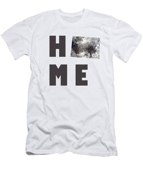 Men's T-Shirt (Slim Fit) featuring the digital art Wyoming State Map by Marlene Watson