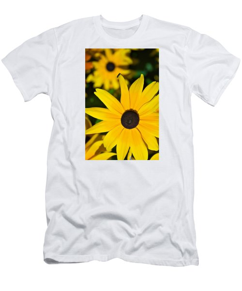 Yellow Flowers Men's T-Shirt (Slim Fit) by Bob Pardue