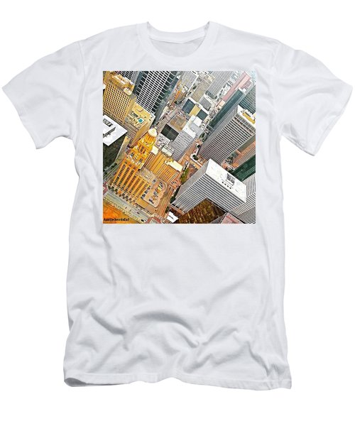 Yesterday's #birdseyeview Of #downtown Men's T-Shirt (Athletic Fit)