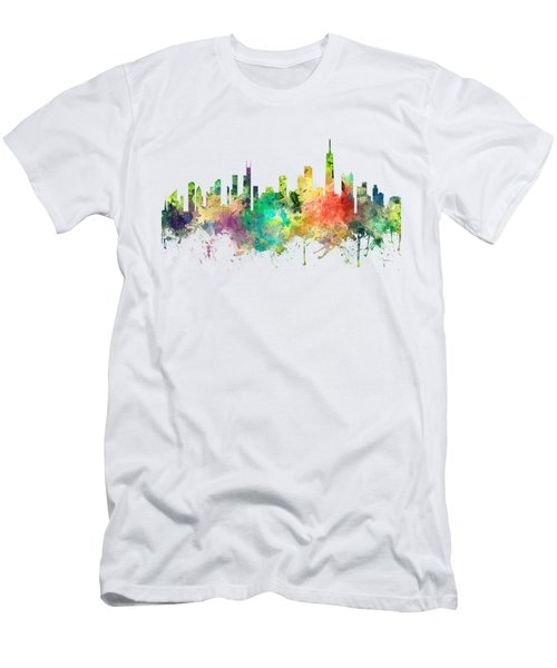 Chicago Illinois Skyline Men's T-Shirt (Slim Fit) by Marlene Watson