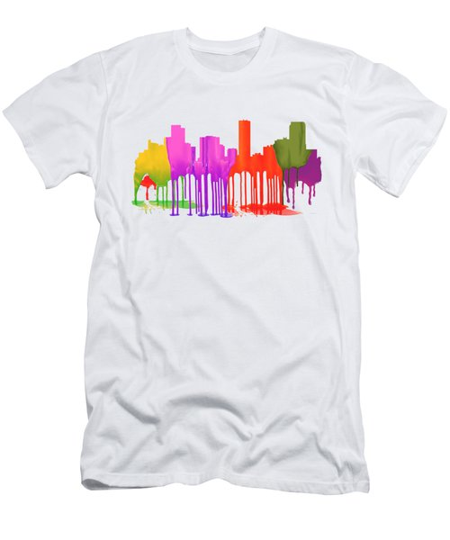 Denver Colorado Skyline Men's T-Shirt (Athletic Fit)