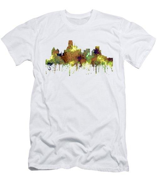 Dallas Texas Skyline Men's T-Shirt (Slim Fit) by Marlene Watson