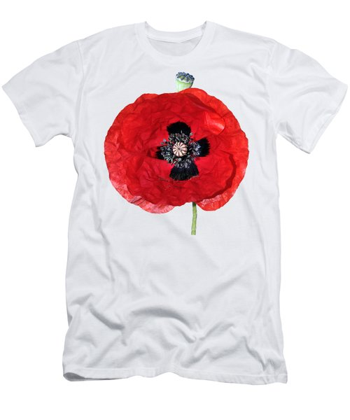 Poppy Flower Men's T-Shirt (Athletic Fit)