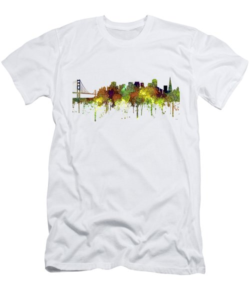 San Francisco California Skyline Men's T-Shirt (Athletic Fit)