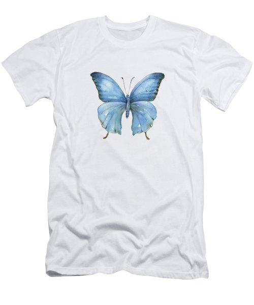 111 Blue Elijah Butterfly Men's T-Shirt (Athletic Fit)