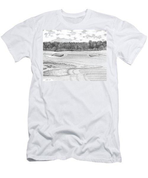11th Hole - Trump National Golf Club Men's T-Shirt (Slim Fit) by Lawrence Tripoli