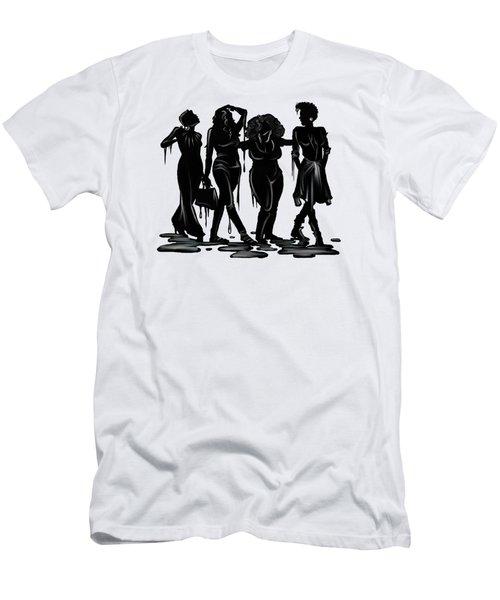 Black. Men's T-Shirt (Athletic Fit)