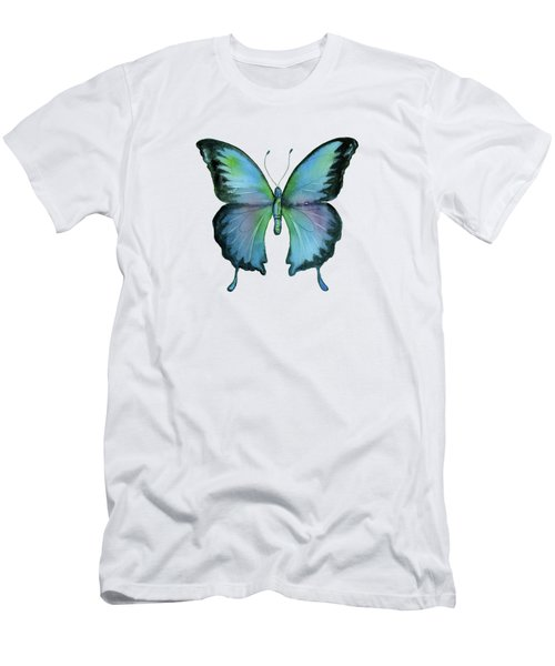 12 Blue Emperor Butterfly Men's T-Shirt (Athletic Fit)