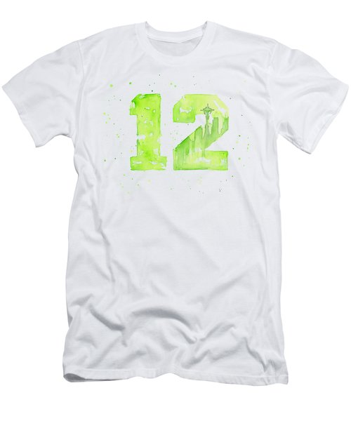 12th Man Seahawks Art Go Hawks Men's T-Shirt (Athletic Fit)