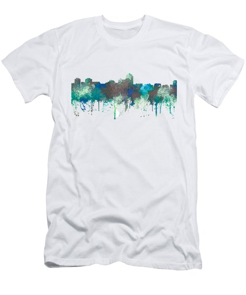 Men's T-Shirt (Slim Fit) featuring the digital art Albuquerque New Mexico Skyline by Marlene Watson