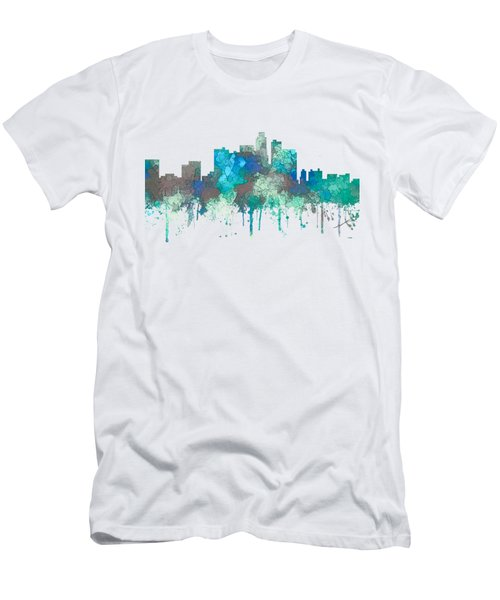 Men's T-Shirt (Slim Fit) featuring the digital art Los Angeles California Skyline by Marlene Watson