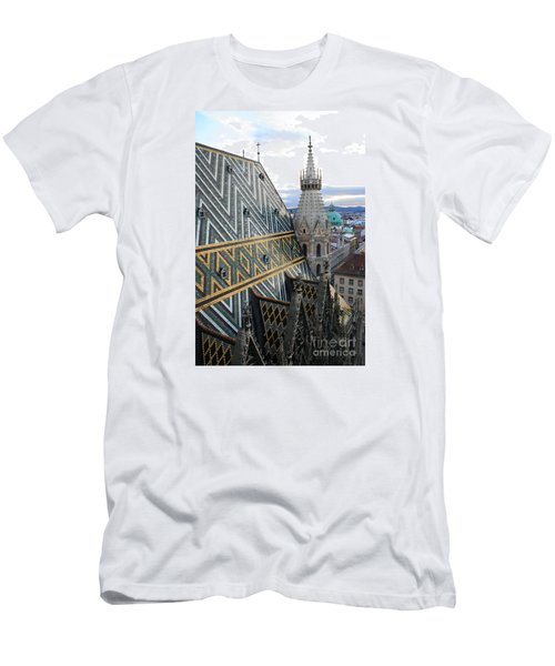 St Stephens Cathedral Vienna Men's T-Shirt (Slim Fit) by Angela Rath
